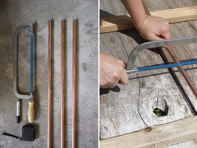 Zuschneiden-von-Kupferrohren