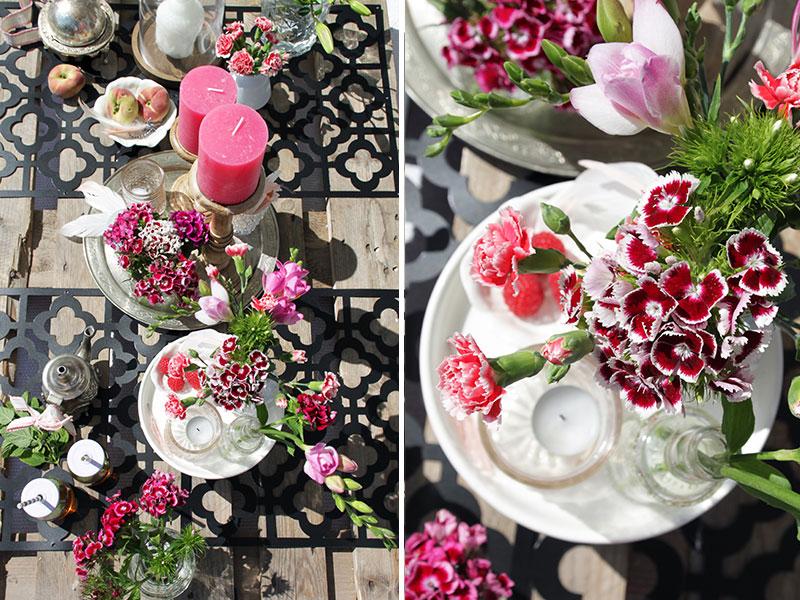 bunte-Blumen-als-Tischdeko