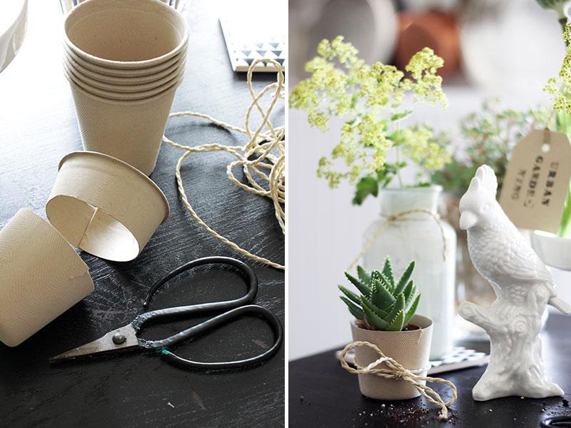 DIY-Mini-Blumentöpfe