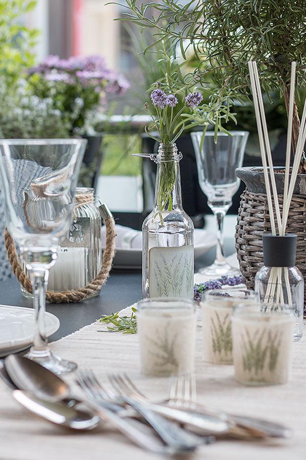 Tischdeko Im Lavendel Look Schön Bei Dir By Depot