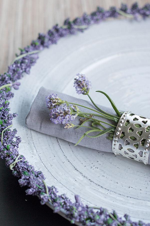 Serviettenring mit Lavendel