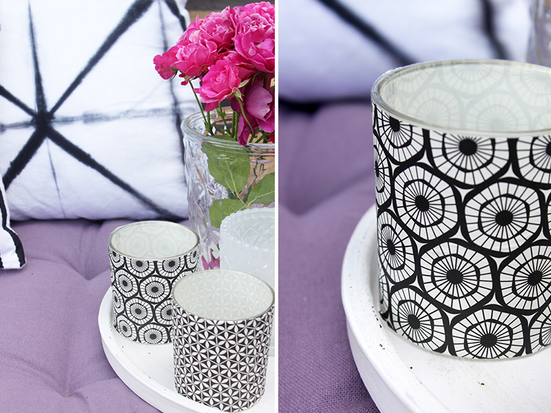 Teelichter-im-Schwarz-Weiß-Muster