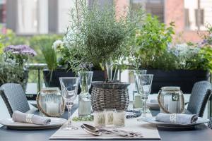 Tischdeko Lavendel