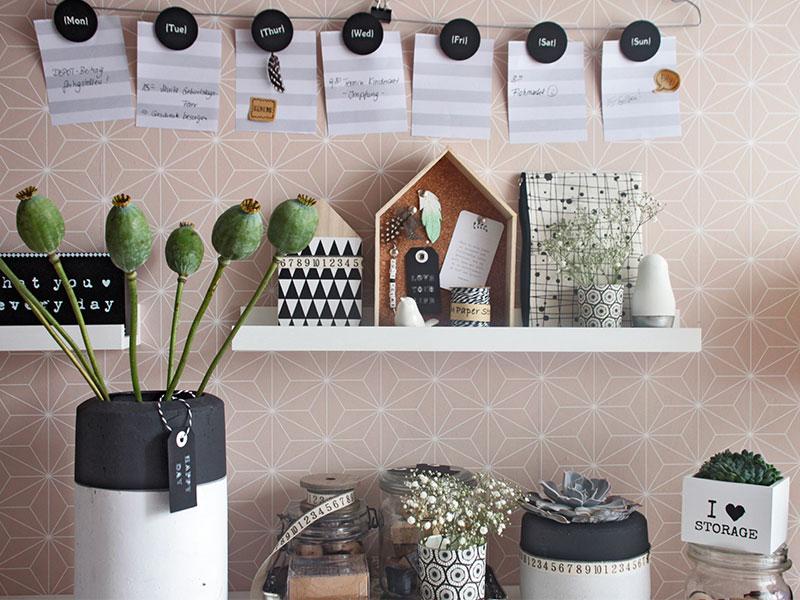 diy pinnwand aus kork im arbeitszimmer sch n bei dir by depot. Black Bedroom Furniture Sets. Home Design Ideas