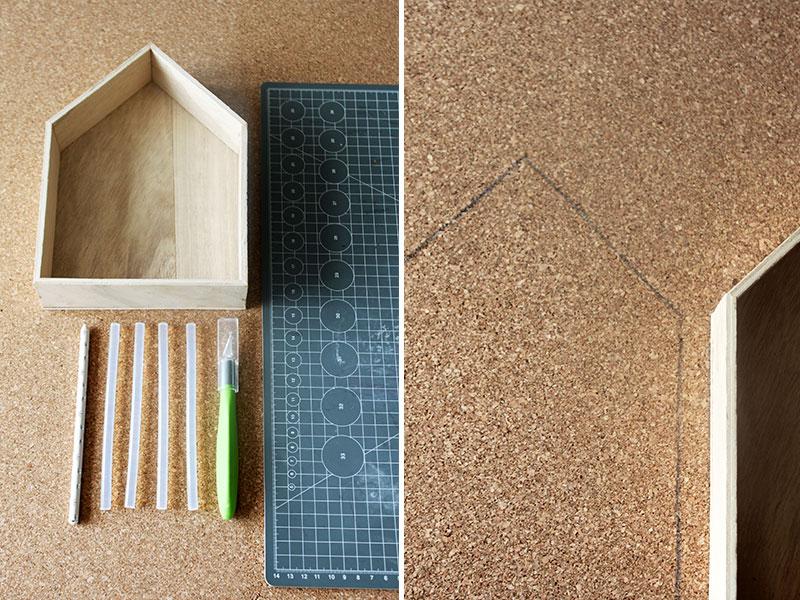 Material-DIY-Korkhäuschen