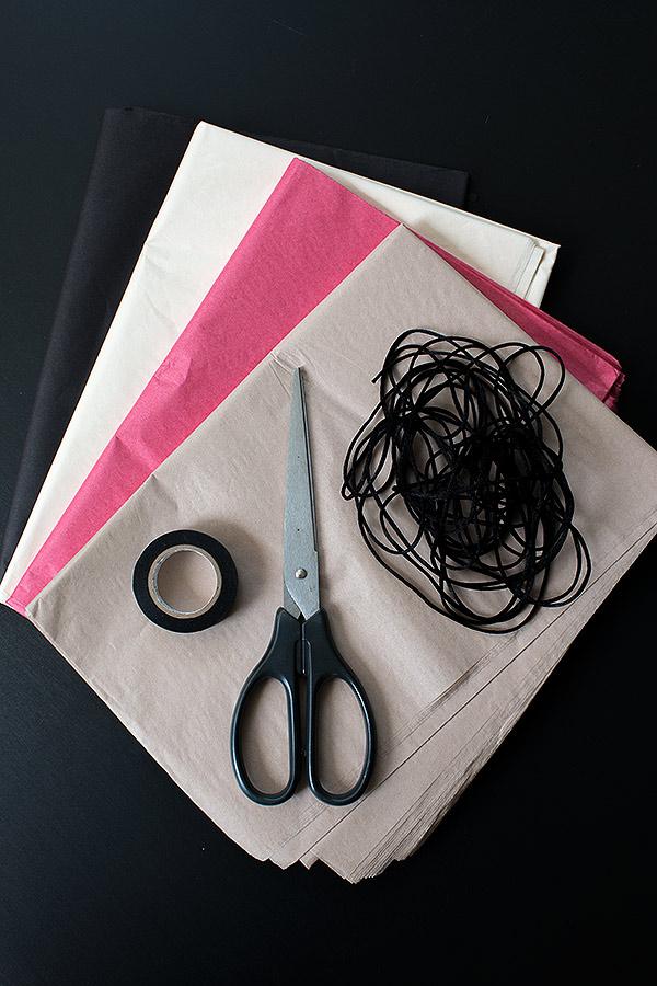 Zubehör DIY-Girlande aus Seidenpapier