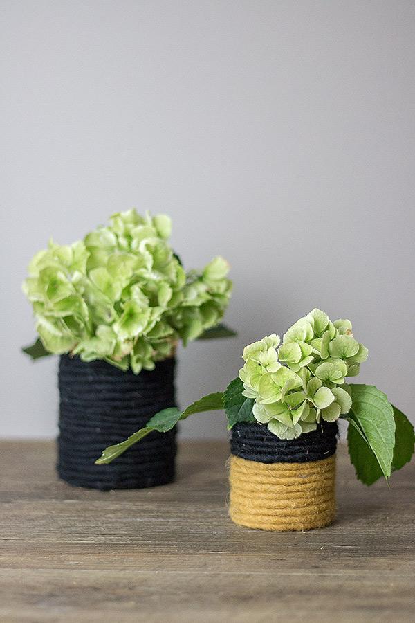 DIY Blumenvase aus Konservendose