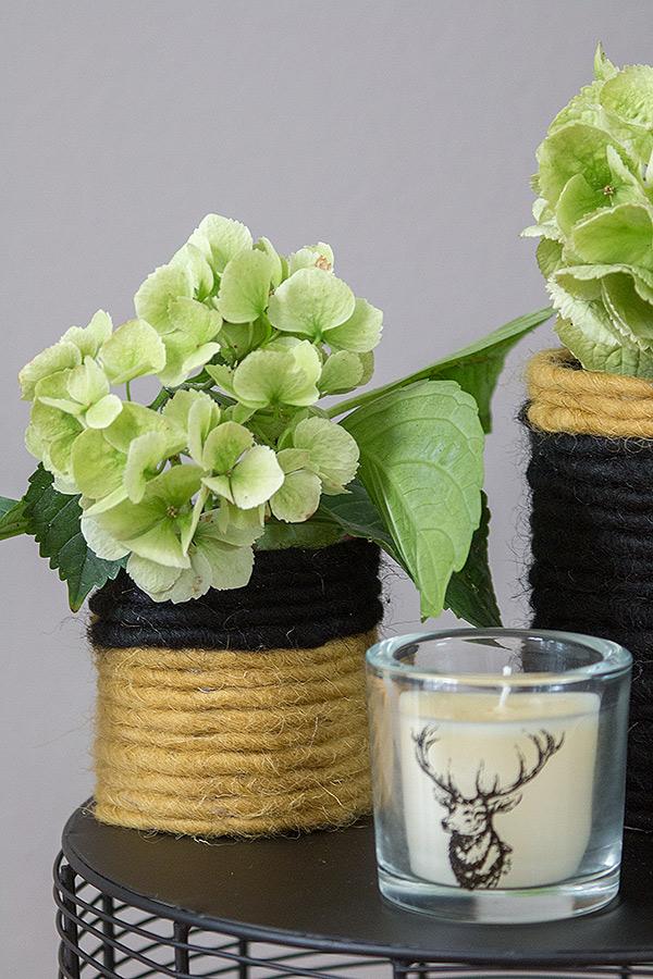 DIY Blumenvase mit Filzband von DEPOT