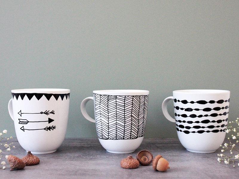 DIY-Tassen-im-Schwarz-Weiß-Look