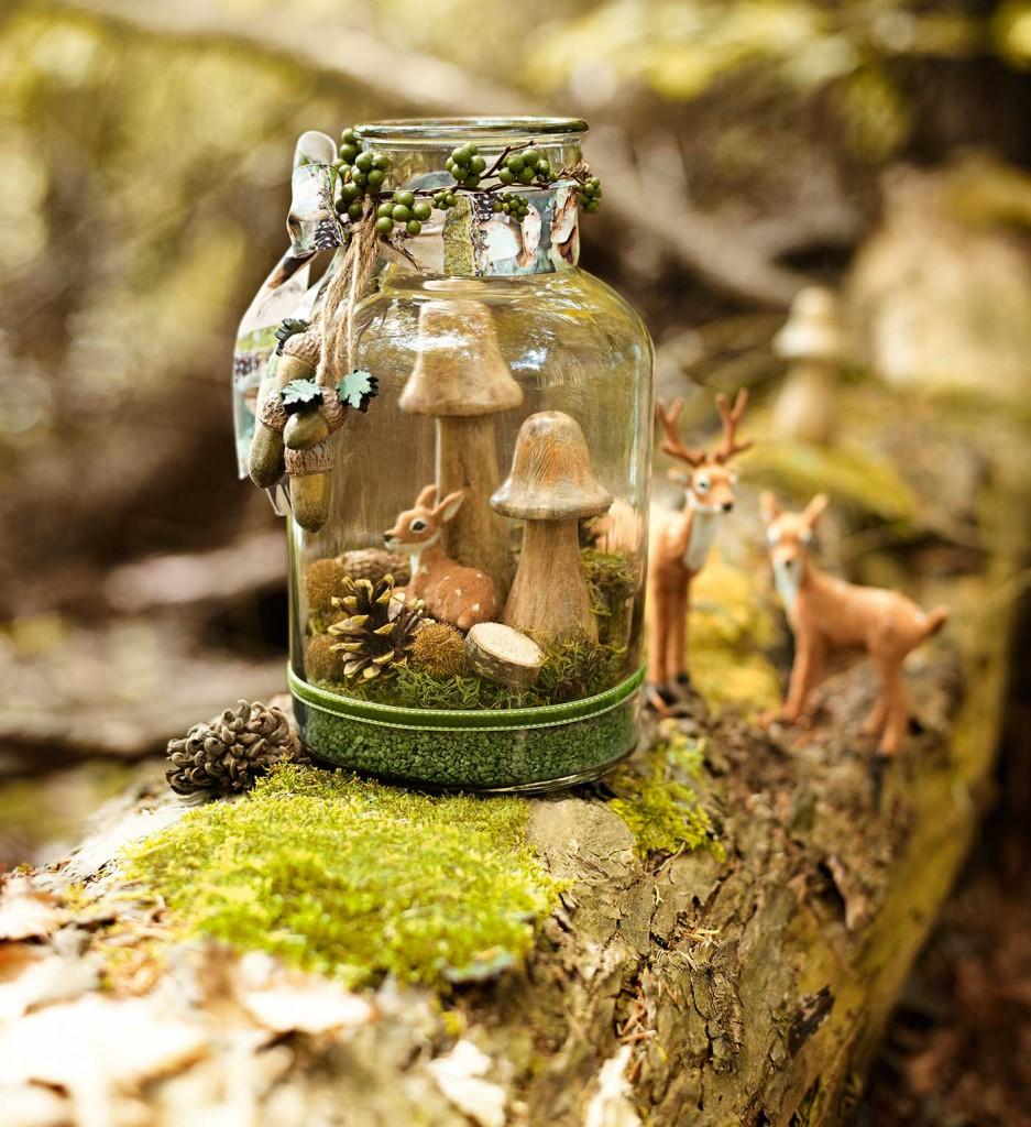 Den Wald in einem Glas