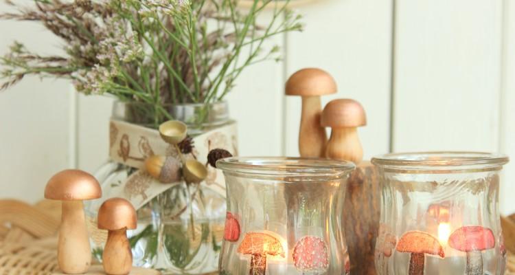 herbstliche teelichter selbst gestalten sch n bei dir by depot. Black Bedroom Furniture Sets. Home Design Ideas