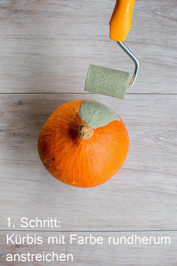 1. Schritt DIY-Zierkürbis im mud cloth Design