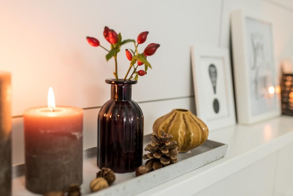 Dekoideen für das Badezimmer im Herbst