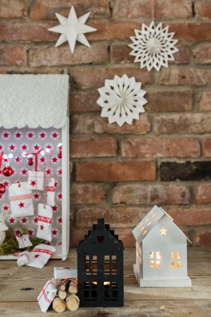 Anleitung für einen DIY Adventskalender in Hausform