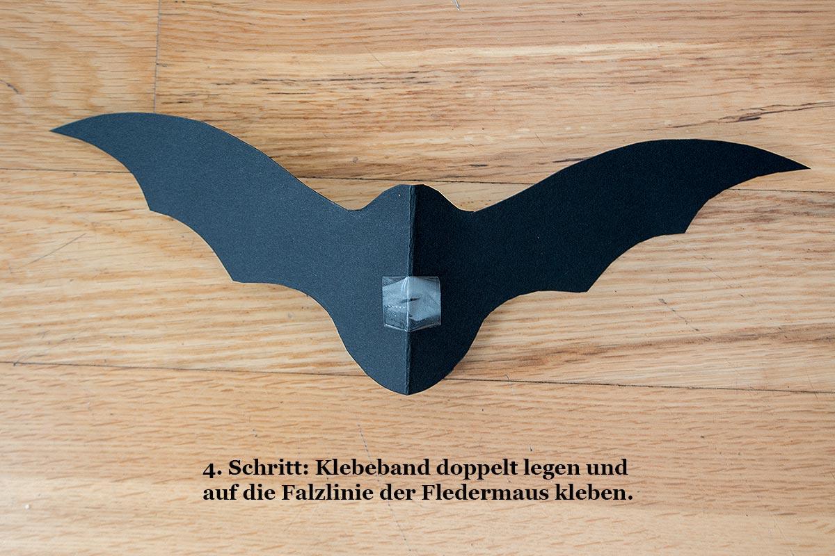 4. Schritt DIY Fledermäuse