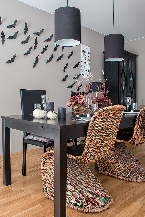 halloween tischdeko und diy flederm use depot blog. Black Bedroom Furniture Sets. Home Design Ideas