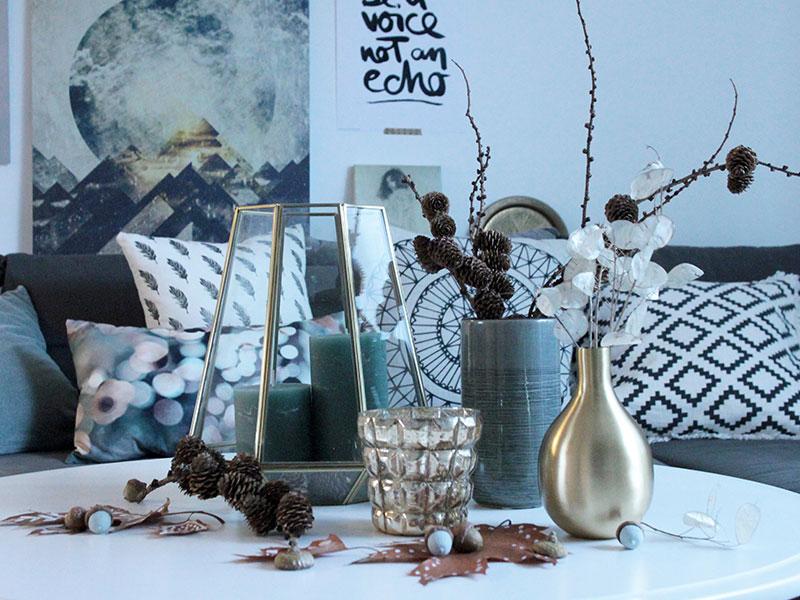 Herbstdeko-in-Gold-und-Mint