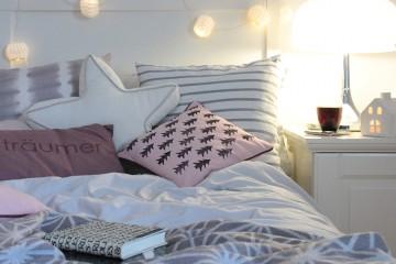 Schlafzimmerdeko U2013 Kissen Mit DIY Tannenbaumprint