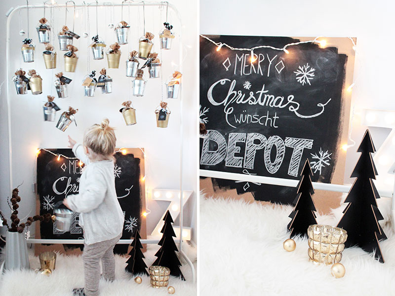 diy adventskalender aus kleinen blecheimern sch n bei. Black Bedroom Furniture Sets. Home Design Ideas