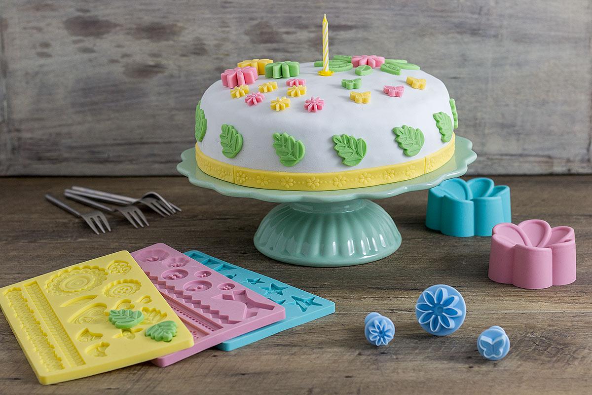 Fondant Torte in Pastellfarben von DEPOT
