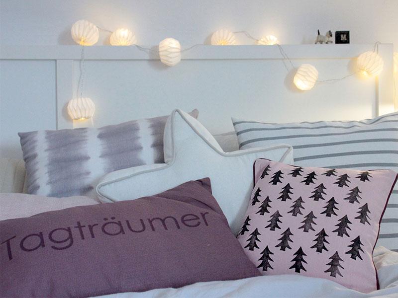 Schlafzimmerdeko Kissen Mit Diy Tannenbaumprint Schön Bei Dir By