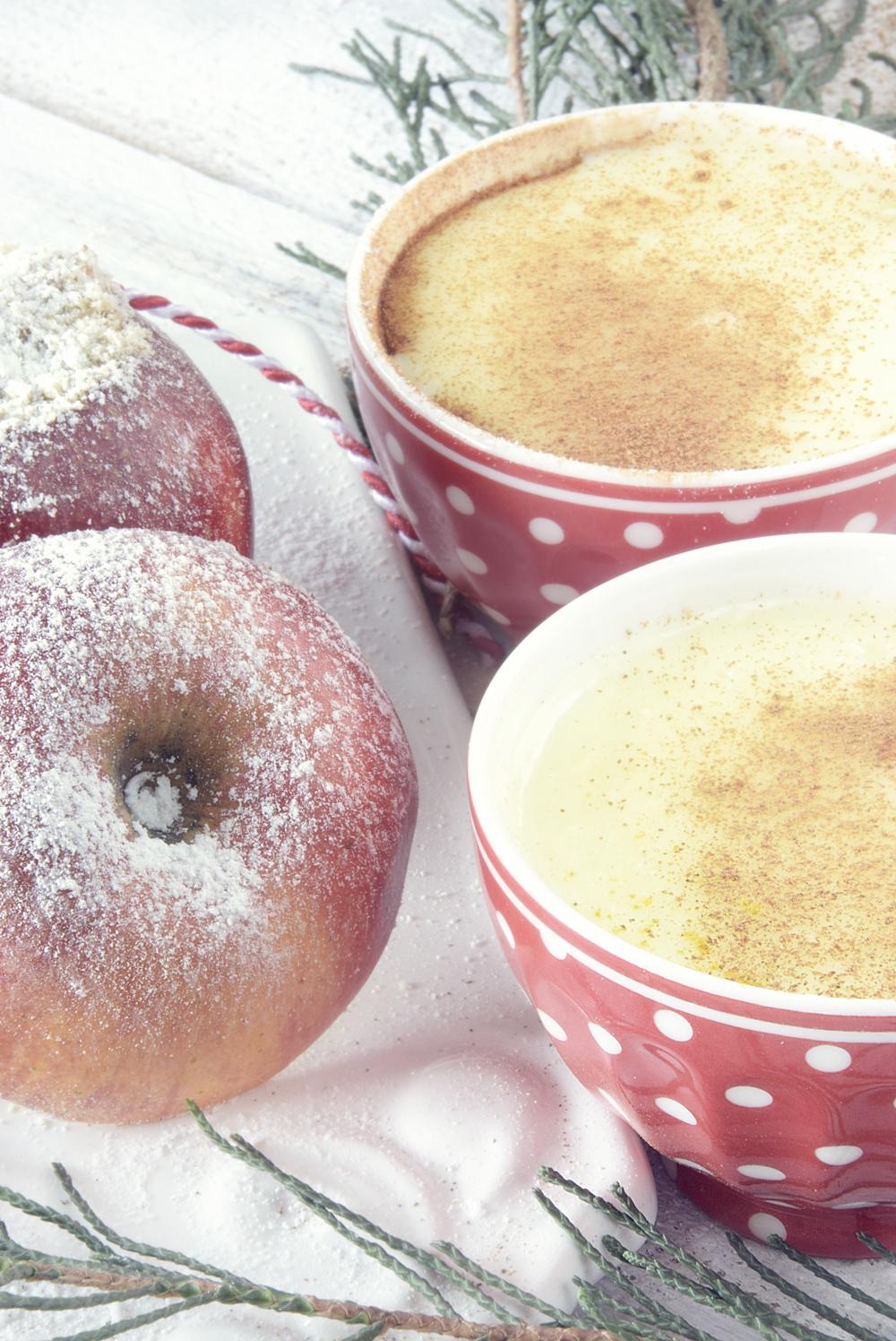 Gesund und lecker - Bratapfel mit Vanillesauce 4