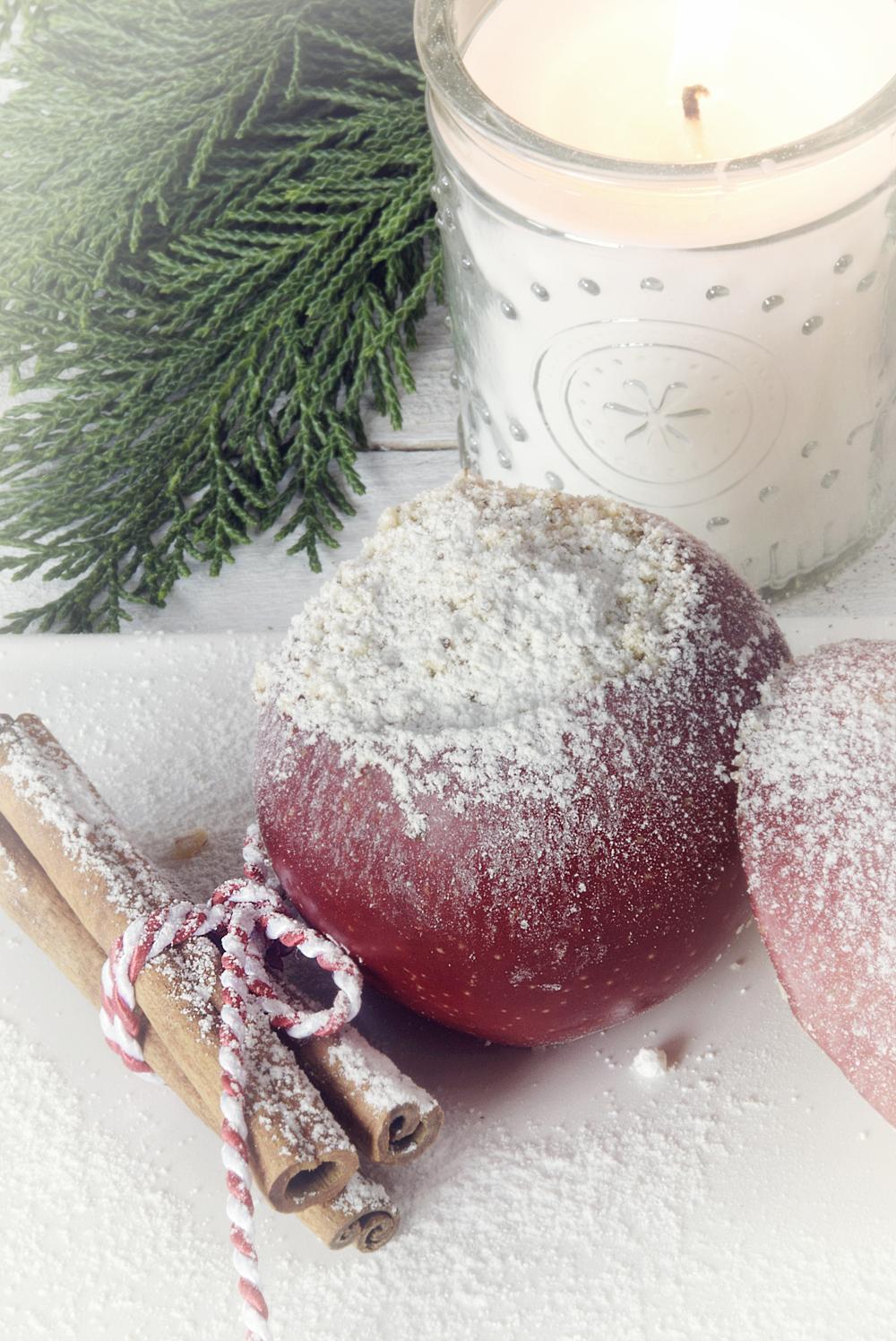 Gesund und lecker - Bratapfel mit Vanillesauce