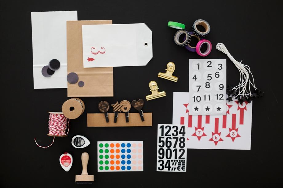 Bastelmaterialien DIY Leiter Adventskalender - Schoen bei dir - Wiener Wohnsinn