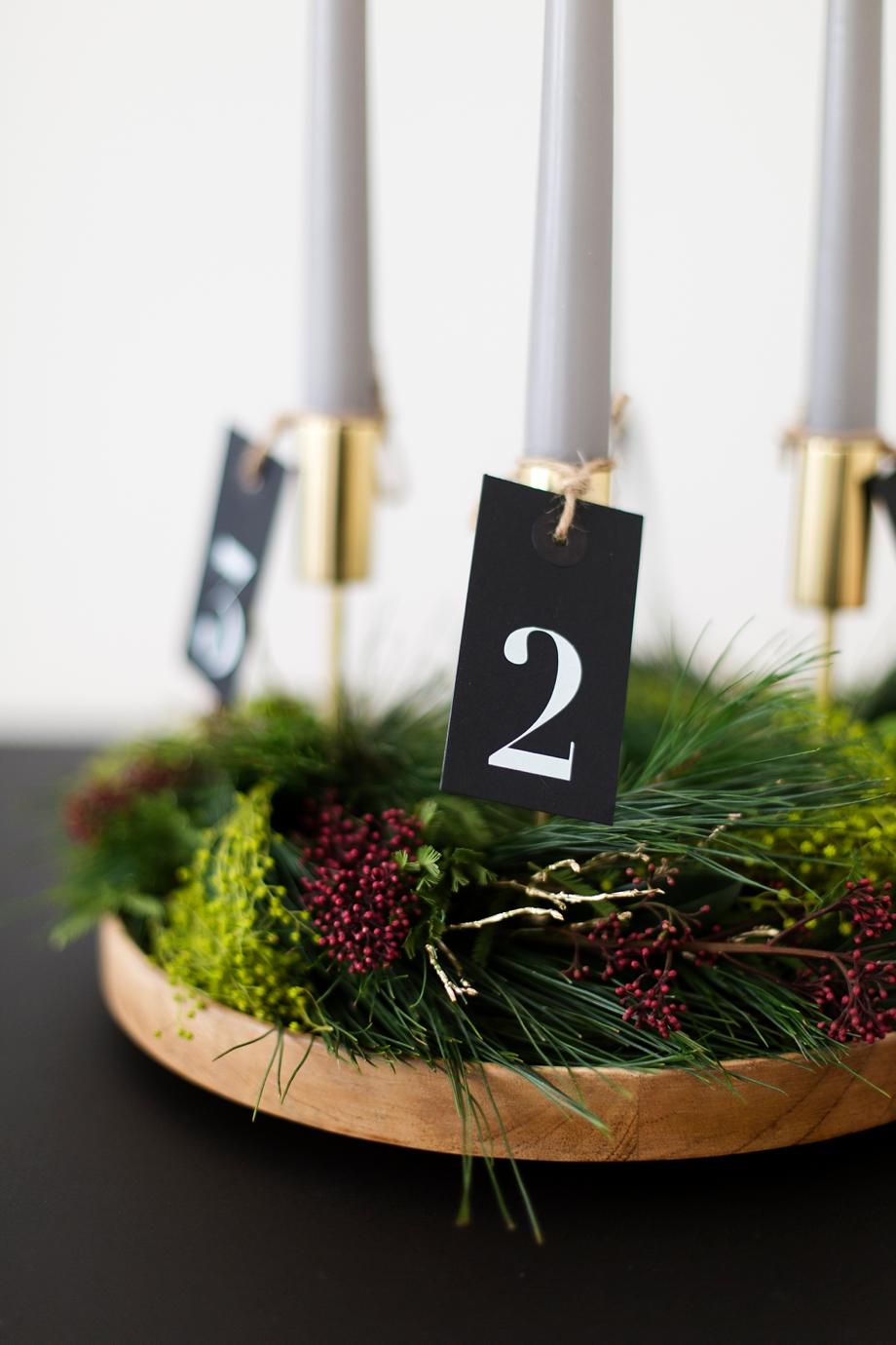 DIY Adventskranz mit Naturmaterialien mit Wiener Wohnsinn auf Schoen bei dir Blog by Depot
