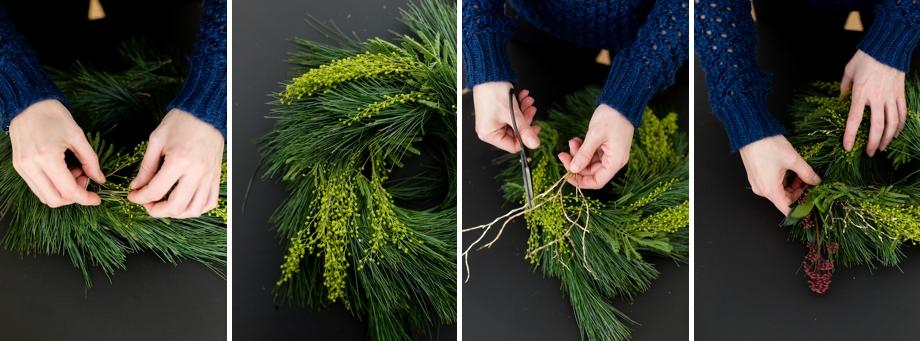 Anleitung für einen DIY Adventskranz mit Naturmaterialien mit Wiener Wohnsinn auf Schoen bei dir Blog by Depot