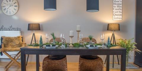 Tischdeko Weihnachten mit Naturmaterialien