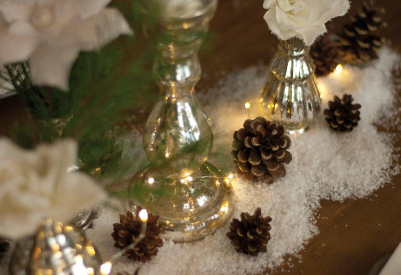 Dekoidee: weihnachtliche Tischdeko