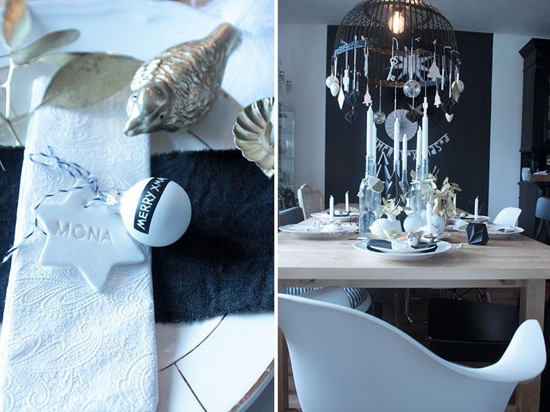 weihnachtstischdeko mit diy platzkarten in sternform sch n bei dir by depot. Black Bedroom Furniture Sets. Home Design Ideas