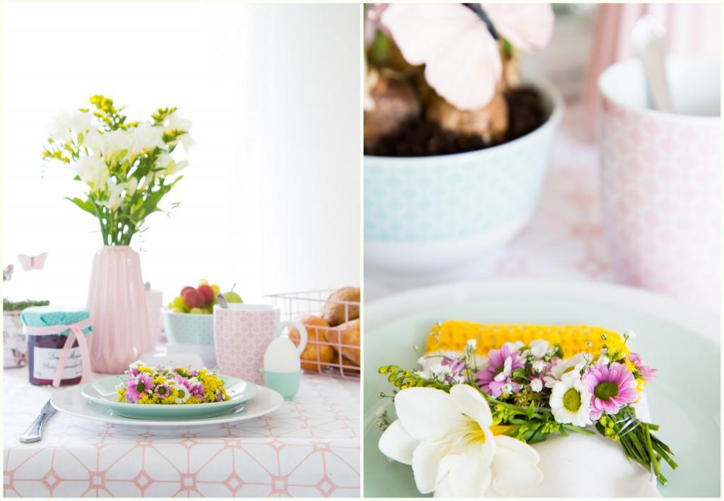Frühlingsstimmung auf dem Tisch - Mini Blumenkranz (1)