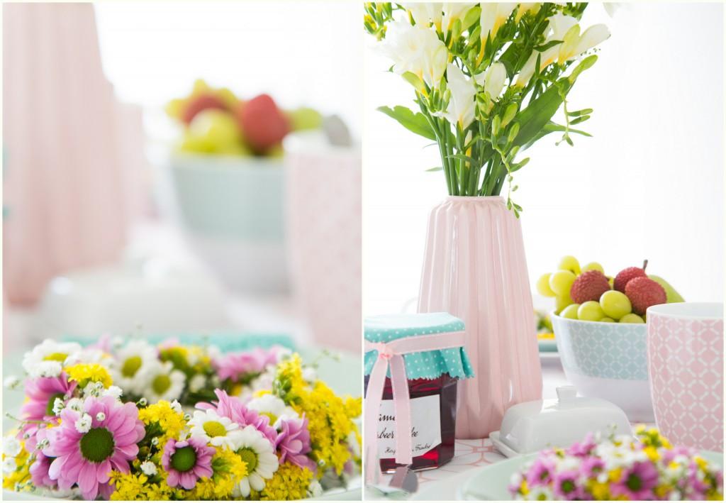 Frühlingsstimmung auf dem Tisch - Mini Blumenkranz (2)