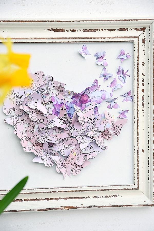 Die Schmetterlinge Sind Los Diy Wanddekoration Schon Bei Dir By