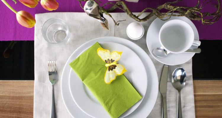 Frühlingshafte Tischdekoration zum Osterbrunch - Schön bei Dir Blog