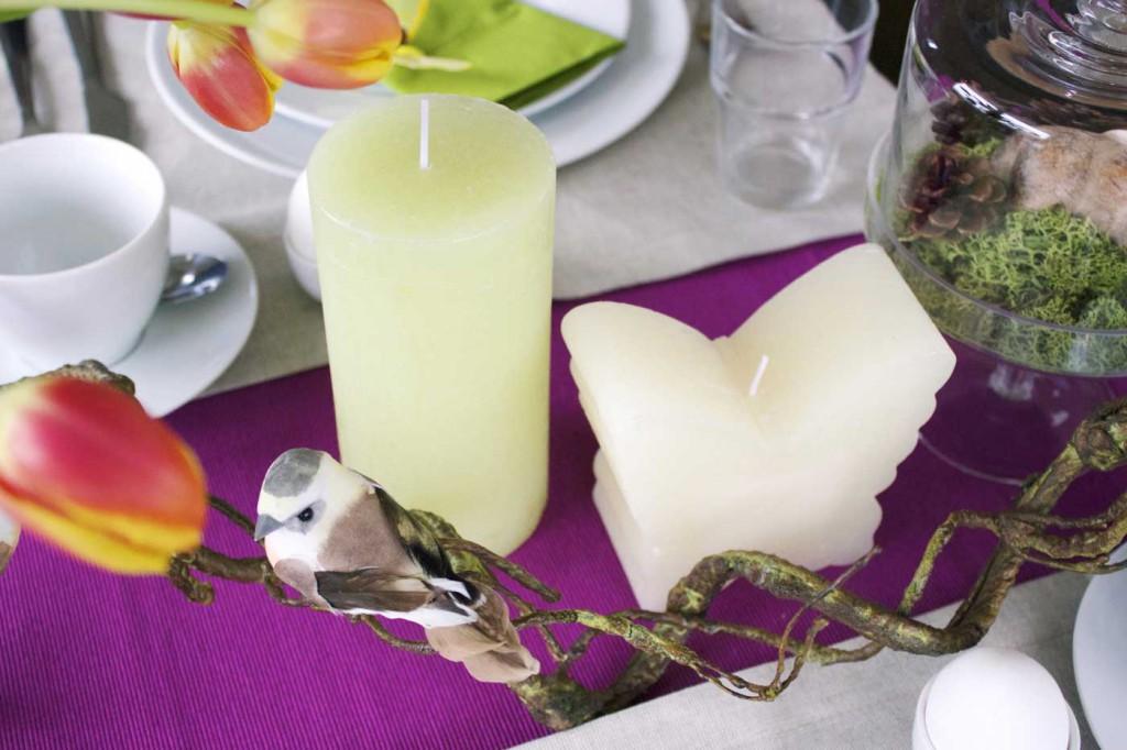 grüne und weiße Kerzen