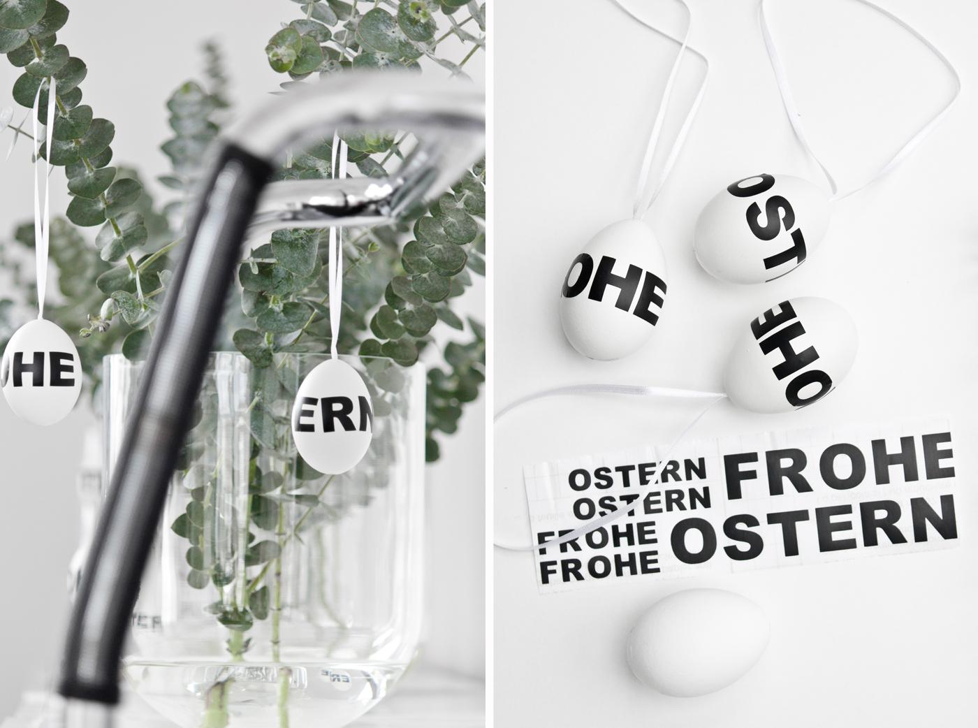 Osterdeko: Zweige in Glasvasen von DEPOT.