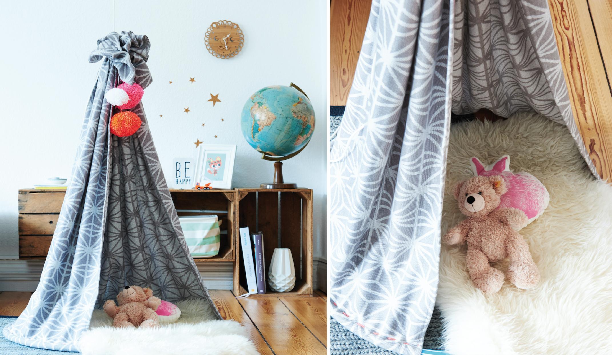 gem tlich tipi fr kinderzimmer selber bauen galerie die besten wohnideen. Black Bedroom Furniture Sets. Home Design Ideas