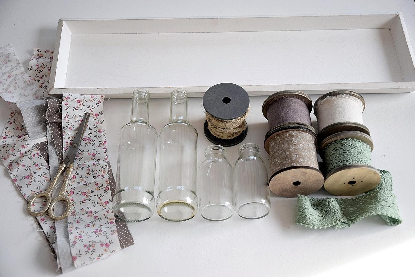 DIY-alte-Flaschen-neue Vasen 1k