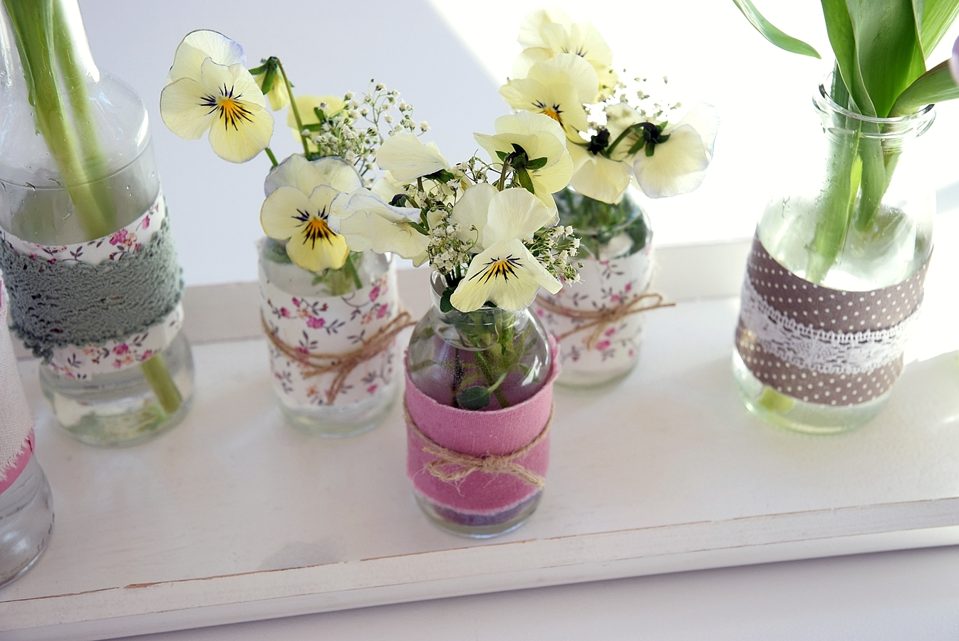 DIY-alte-Flaschen-neue Vasen 2k