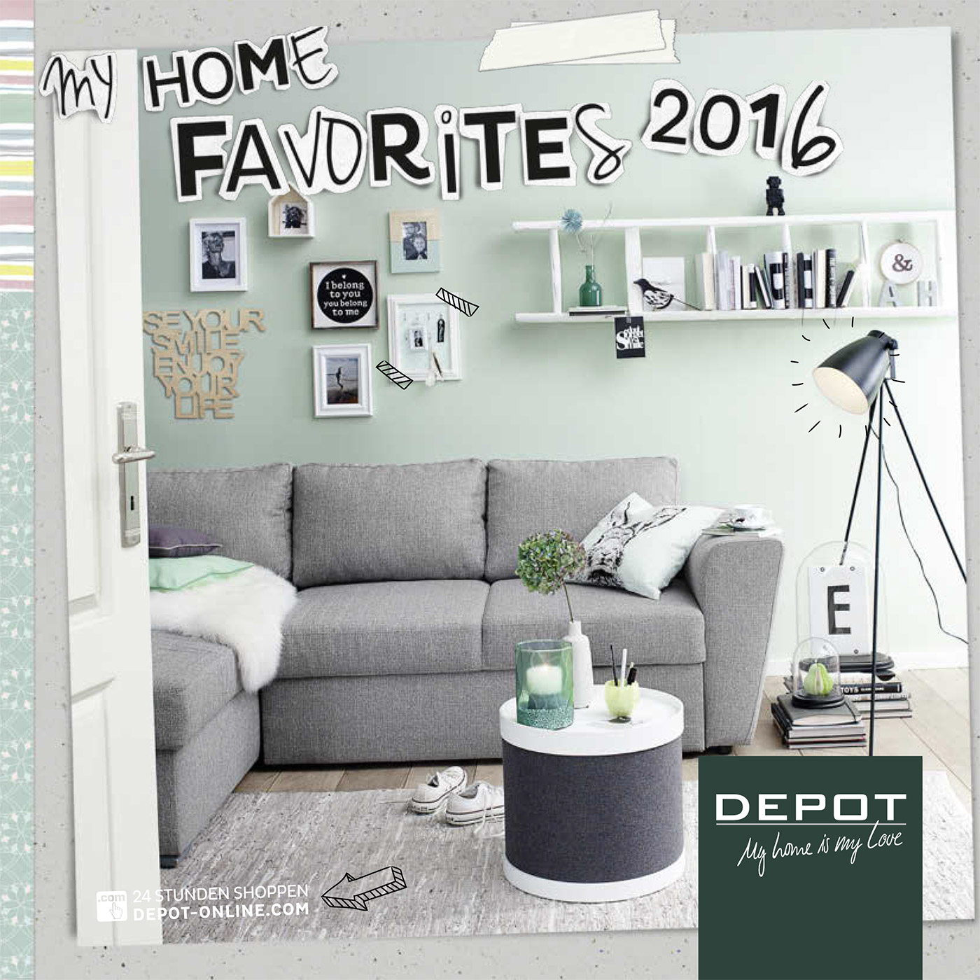 my home favorites der depot hauptkatalog 2016 sch n bei dir by depot. Black Bedroom Furniture Sets. Home Design Ideas
