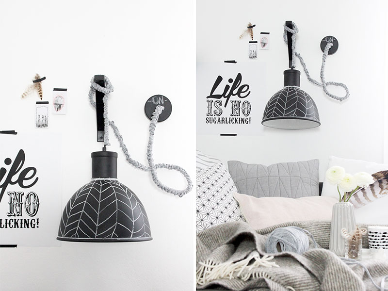 diy wandlampe sch n bei dir by depot. Black Bedroom Furniture Sets. Home Design Ideas