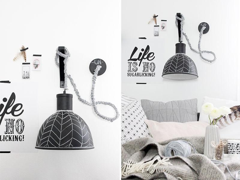 diy wandlampe sch n bei dir by depot. Black Bedroom Furniture Sets. Home Design Ideas