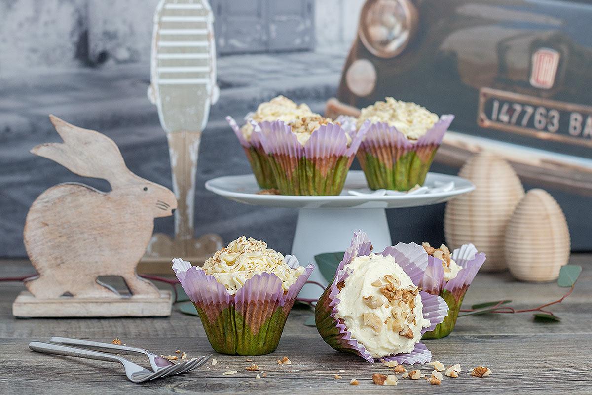weltbeste Karottenkuchen Cupcakes