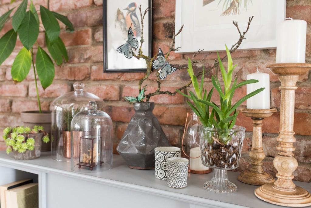 Dekoideen mit der Kaminkonsole im botanik Look von Depot