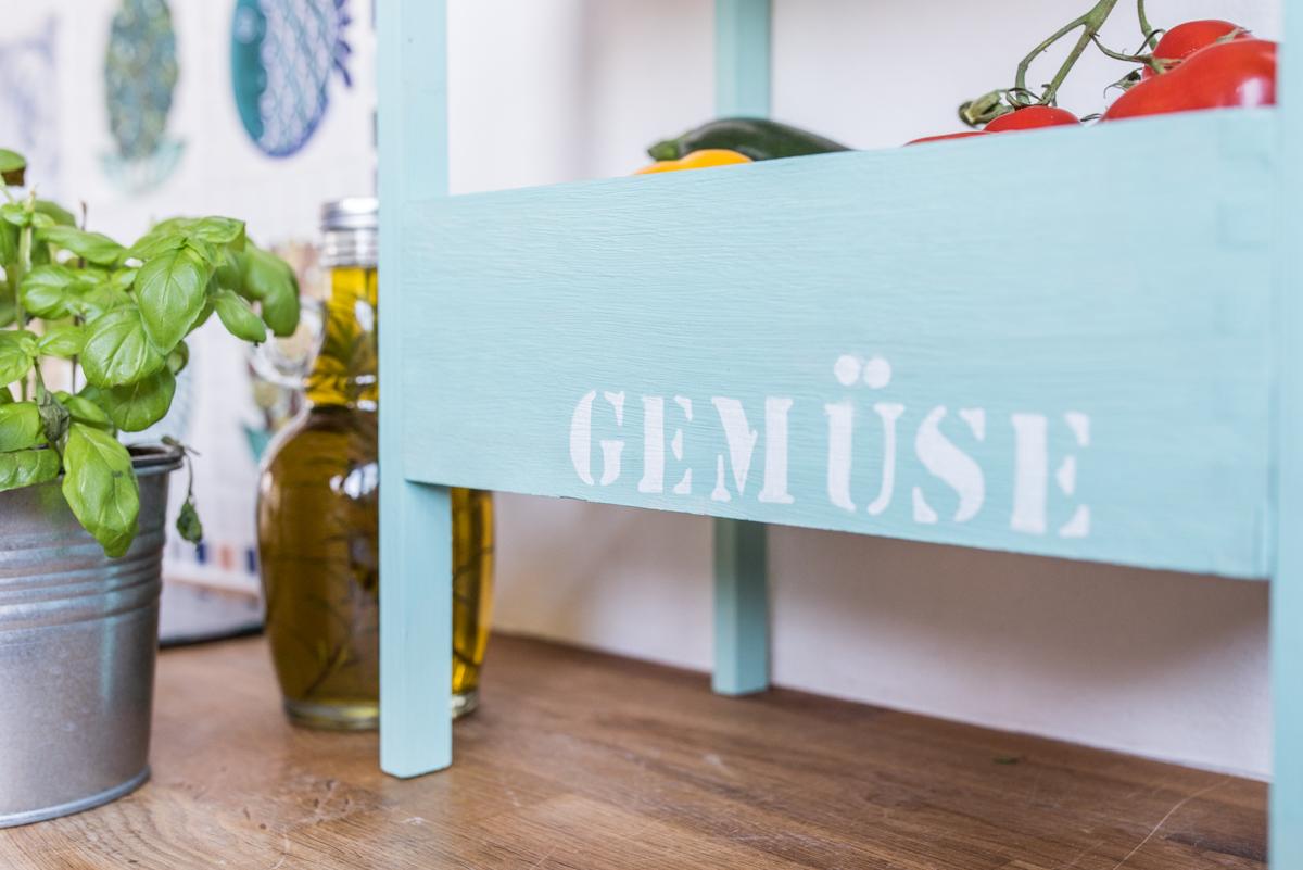 DIY Etagere aus Holzkisten für die Küche