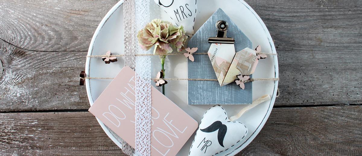 kreative geldgeschenke zur hochzeit sch n bei dir by depot. Black Bedroom Furniture Sets. Home Design Ideas
