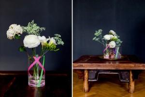 Vasen mit Masking Tape aufpeppen